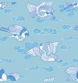 oriental seagulls pattern vector image vector image