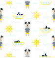 pajamas boy pattern with tilda sailor dog seamless vector image vector image