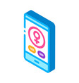 phone call female isometric icon vector image vector image
