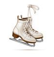 realistic figure skates vintage ice skates vector image vector image