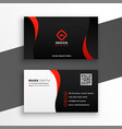 red and black modern business card design template vector image vector image