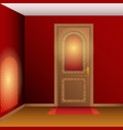 room interior with door vector image