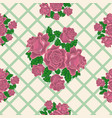 seamless pattern of pink roses on the background vector image vector image