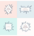 set of christmas foliage cards signs or logo vector image vector image