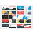 Set of Creative and Clean Corporate Business Card vector image
