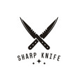 sharp knife logo design inspiration vector image