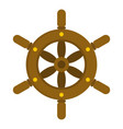 ship wheel icon isolated vector image vector image