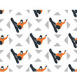 snowboarder patter vector image