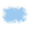 snowflakes grunge background vector image vector image