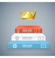 stairs and crown option banner vector image vector image