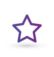 star line icon favorite outline logo linear vector image vector image