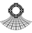 stencil scottish celtic ring vector image