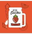 Strawberry Detox icon Smoothie and Juice design vector image vector image