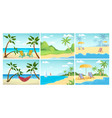 summer beach landscape palm ocean relax empty vector image