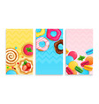 sweets desserts cards set vector image
