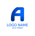 the creative logo of the letter a in blue tones vector image