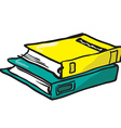 two books vector image vector image