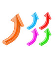 up arrows 3d bold shiny colored signs vector image