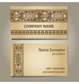 visiting card template vector image