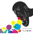 Vomiting colored balls vector image vector image