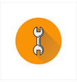 wrench icon on white background vector image vector image