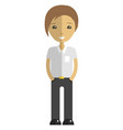 young man cartoon character flat isolated vector image