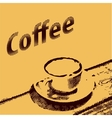 Coffee poster in vintage style Grunge template vector image