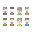 avatars men vector image