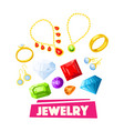 jewelry and precious gemstone poster design vector image