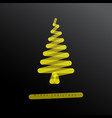 simple minimalistic christmas tree vector image