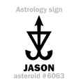 astrology asteroid jason vector image vector image