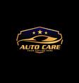 auto care brand logo design concept
