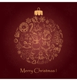 Beautiful christmas ball for Merry Christmas vector image vector image