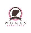 beautiful woman logo design inspiration vector image vector image