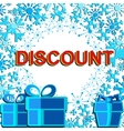 Big winter sale poster with DISCOUNT text vector image vector image