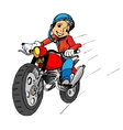 Boy on a motorbik
