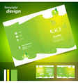 brochure folder juice fruit drops liquid fruit vector image vector image