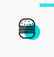 burger fast food fast food turquoise highlight vector image vector image