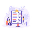 business people checklist team work flat vector image