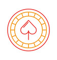 casino chips with spade vector image vector image