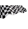 checkered flag vector image vector image