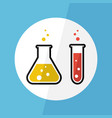 chemical substance in flask and test tube vector image