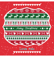 Christmas greeting card61 vector image vector image