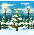 christmas nature cityscape vector image vector image