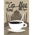 Coffee Taj Mahal vector image vector image