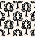 cute scandinavian birds seamless pattern folk vector image