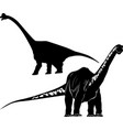 diplodocus dinosaur isolated on a new backg vector image vector image