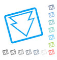 direction down icon rubber watermark vector image