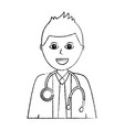 doctor physician medical staff portrait character vector image vector image