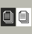 document - icon vector image vector image